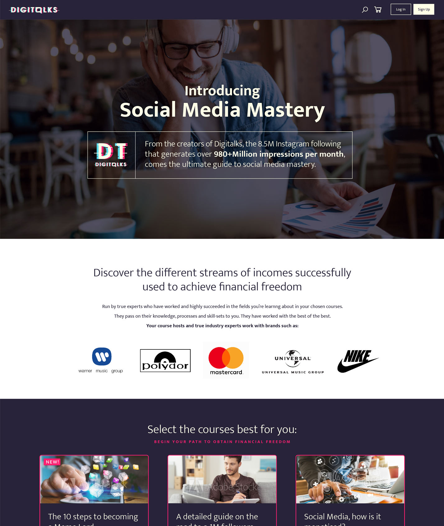 Digitalks website design by Ever Increasing Circles